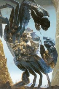 藤林叡三「あらそい」1974年194.0×130.5(cm)
