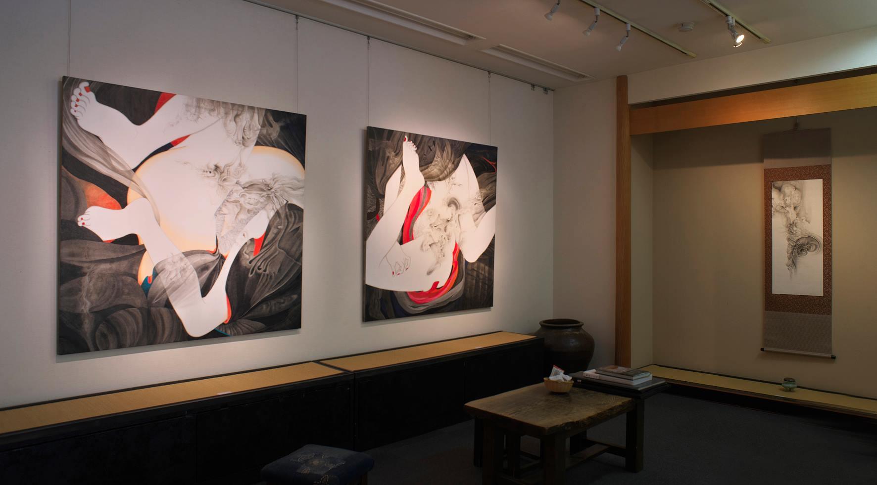 亀井三千代展「絵空言」会場風景|2017年4月17日~27日、会場:羽黒洞